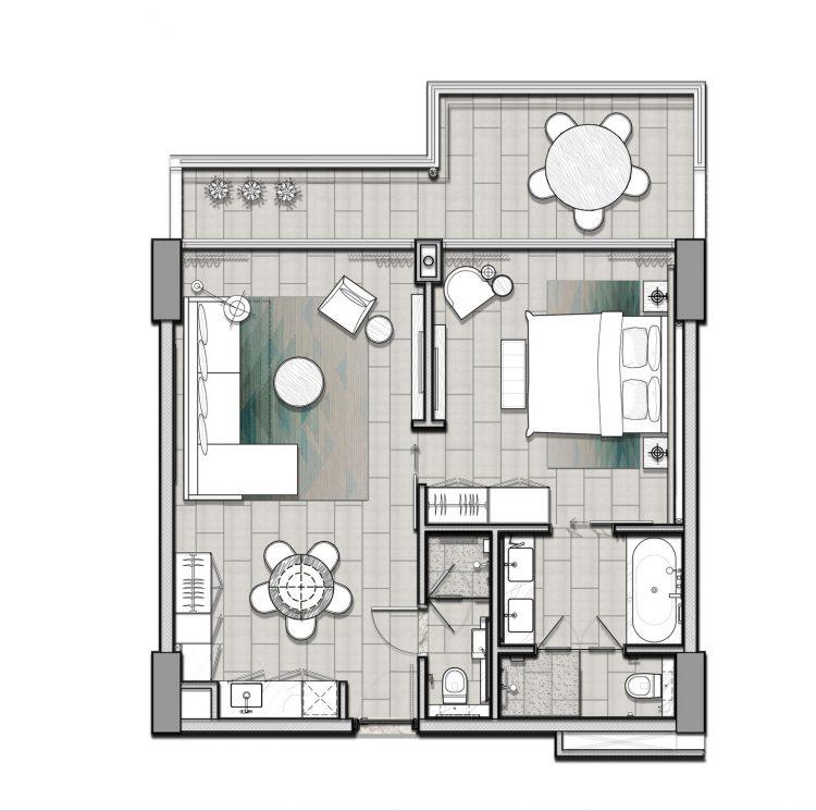 Khu nghỉ dưỡng ALMA - Căn hộ loại A