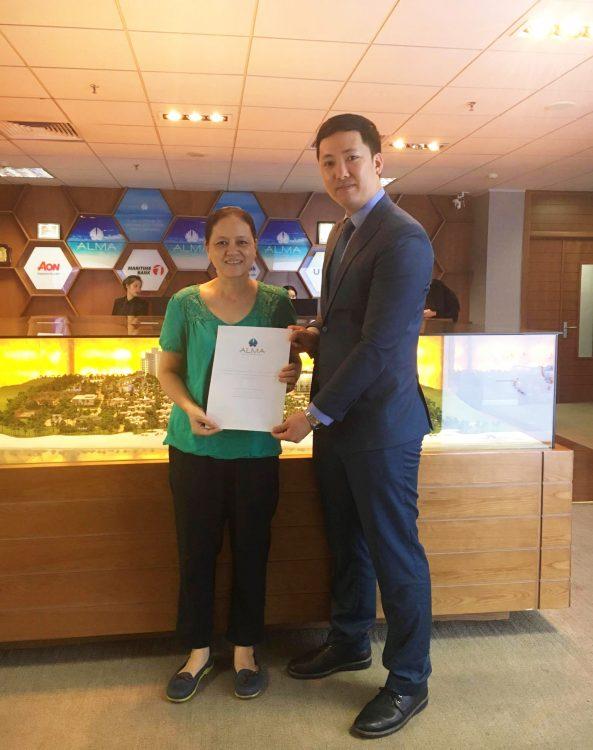 Công ty ALMA - trao giải chuyến du lịch Thái Lan